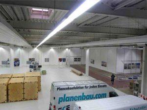 ECE PLANENBAU - Aluminium Standvorzelte, sowie Industrieplanen und Hallentrennwände